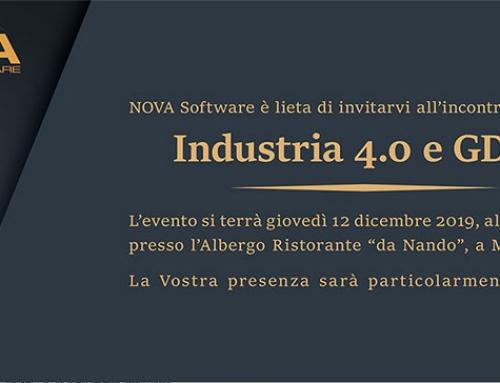Evento NOVA 2019: Industria 4.0 e GDPR